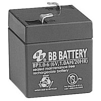 6V 1Ah Battery T1 Terminal, BP1.0-6-T1