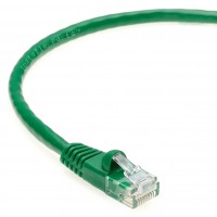 0.5 Ft CAT 6 Molded Snagless Patch Cable Green -- Professional Series -- 50 Micron Gold Plated RJ45 Connectors -- Ethernet Data Network