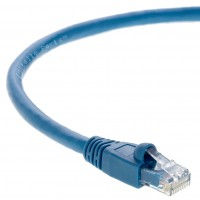 1Ft Cat.6A Patch Cable Molded Blue