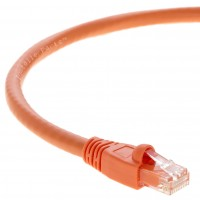 1Ft Cat.6A Patch Cable Molded Orange