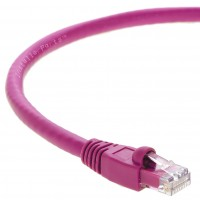 InstallerParts 15 Ft Cat6A UTP Ethernet Network Booted Cable Pink