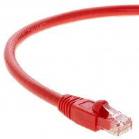 1Ft Cat.6A Patch Cable Molded Red