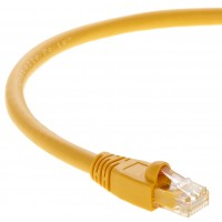 1Ft Cat.6A Patch Cable Molded Yellow