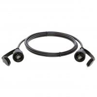 3Ft Cat.6 STP Industrial Outdoor Patch Cable w/Dust Cap Black