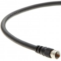 3Ft F-Type Screw-on RG6 Cable Black