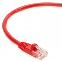 100 Ft CAT 6 Molded Snagless Patch Cable Red -- Professional Series -- 50 Micron Gold Plated RJ45 Connectors -- Ethernet Data Network