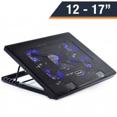 """Otimo Cooling Pad for 12 - 17"""" Laptop, Multi-angle Stand 5 Fan, USB Port"""