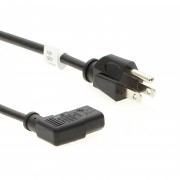 Otimo 6 Ft Computer Power Cord 5-15P to C-13  Right Angle  Black / SVT 18/3