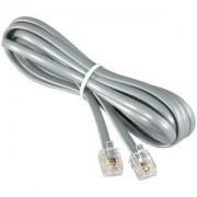 7Ft RJ11 (4C) Modular Telephone Cable Straight