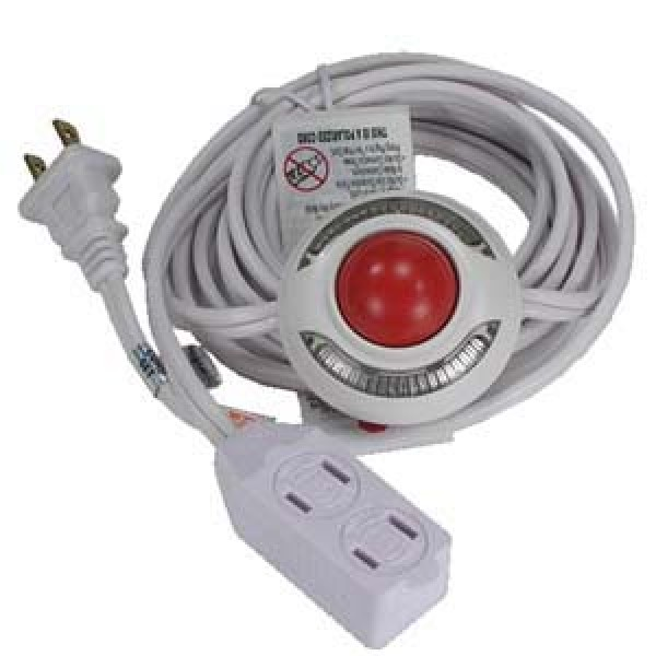 Lighted Foot Switch with 9Ft 3 Outlet Cord